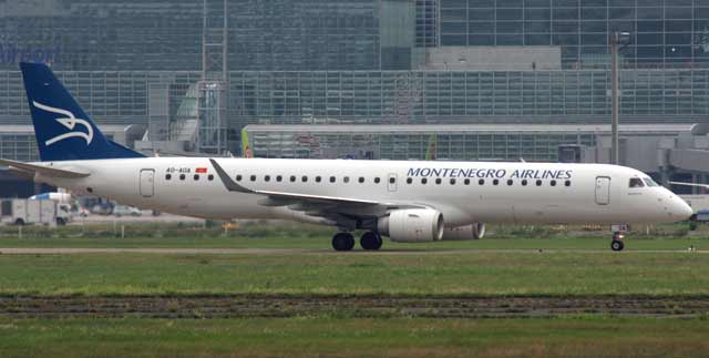 Embraer 195 Montenegro Airlines