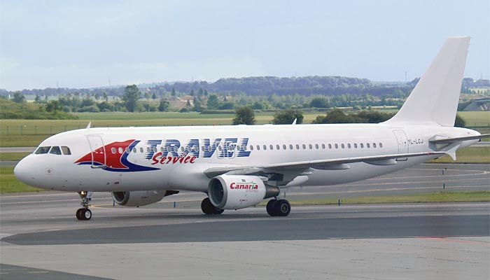 Airbus A320 Travel Service Airlines