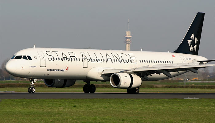 Airbus A321 Turkish Airlines / Star Alliance