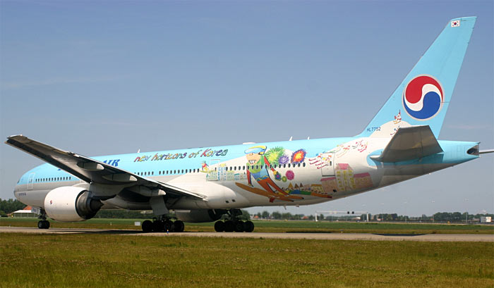 Boeing 777 Korean Air Olympic Winter Games